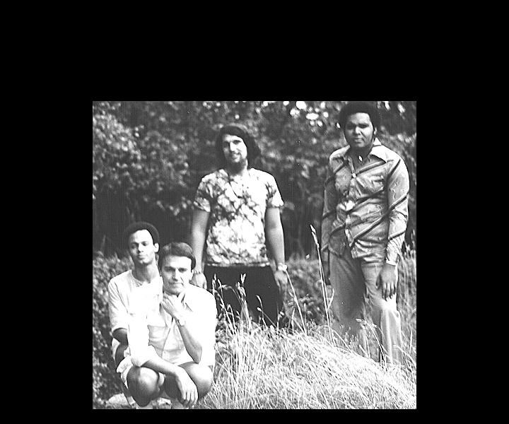 "Mahavishnu Orchestra recording ""Inner Worlds"" album<br> Chateau Herouville, France - August 1975<br> Narada Michael Walden, John McLaughlin, Stu Goldberg, Ralphe Armstrong"