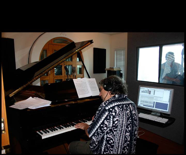 "Stu Goldberg producing and recording in Stu Goldberg Studios<br> for Anna Jacyszyn and Bernie Addington CD ""Lush Life"" 2009"