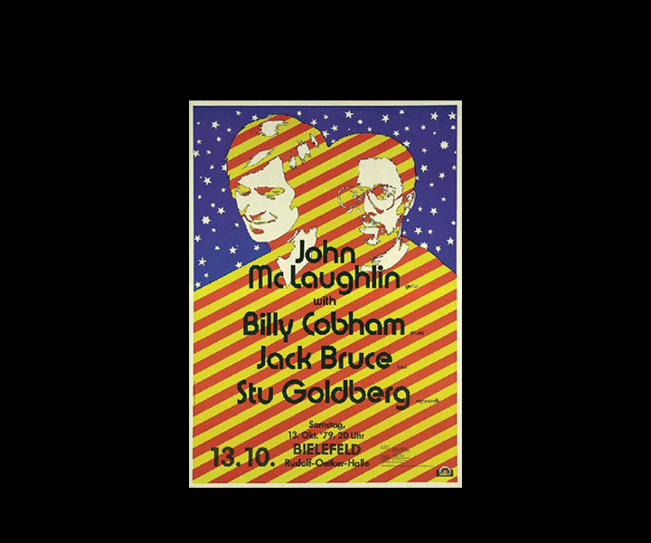 Poster from European Tour<br> John McLaughlin, Billy Cobham, Jack Bruce (RIP), Stu Goldberg<br> October 1979